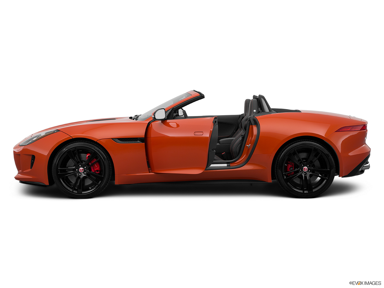 2015 Jaguar F-Type Convertible V8 S Driver's side profile with drivers side door open.