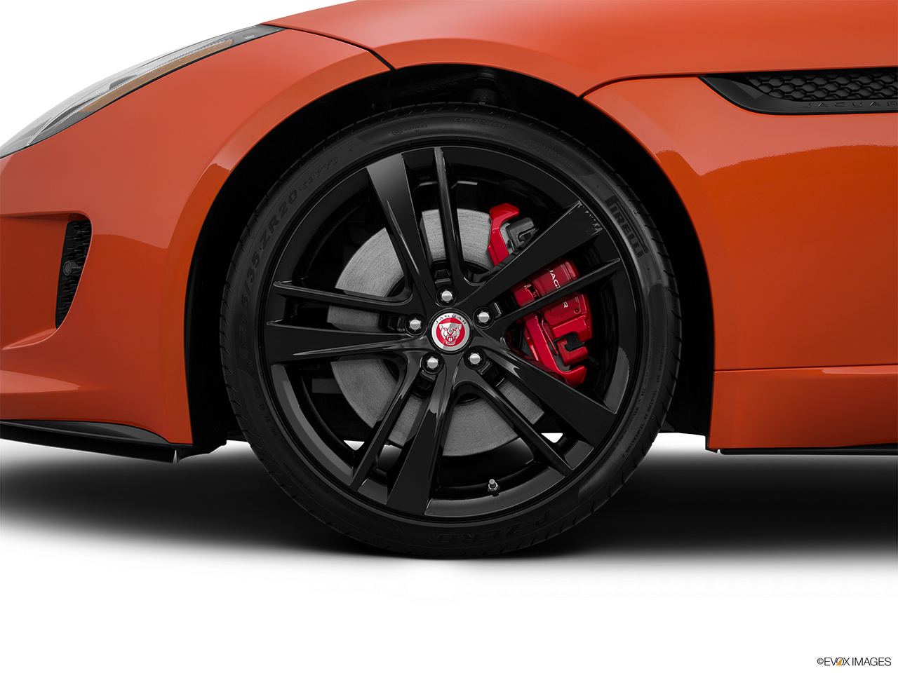 2015 Jaguar F-Type Convertible V8 S Front Drivers side wheel at profile.