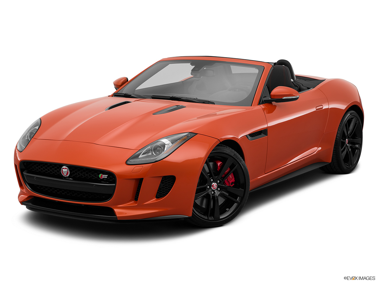 2015 Jaguar F-Type Convertible V8 S Front angle view.