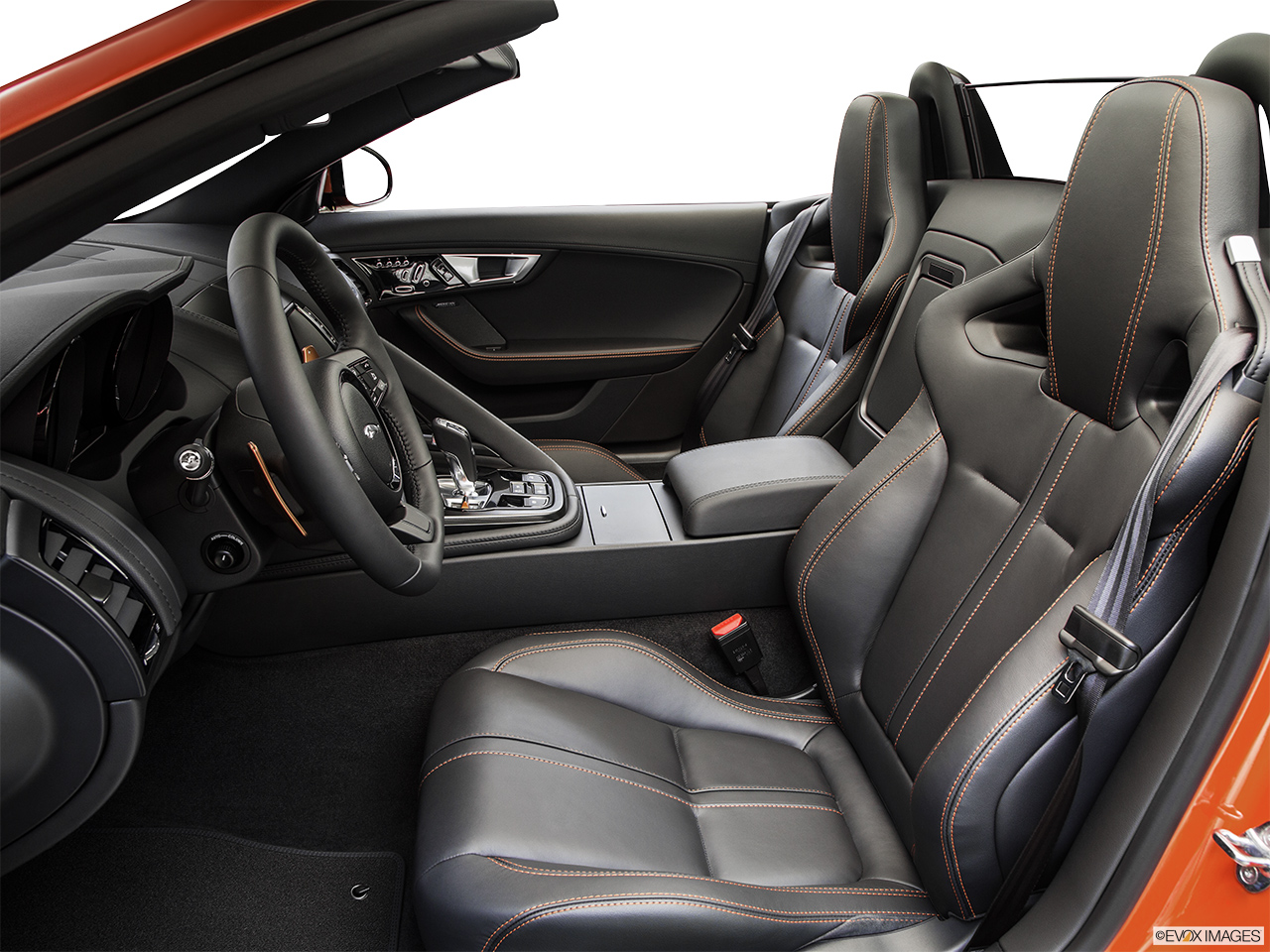 2015 Jaguar F-Type Convertible V8 S Front seats from Drivers Side.