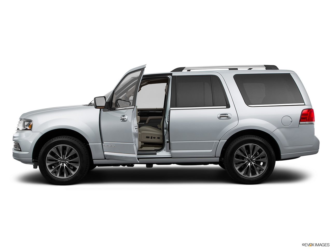 2015 Lincoln Navigator Base Driver's side profile with drivers side door open.